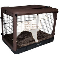 "Pet Gear ""The Other Door"" Steel Crates, Bolster Pad and Carry Bag CHOCOLATE PG5936BCH"
