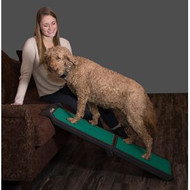 Pet Gear Bi-Fold Travel Lite Pet Ramp with supertraX BLACK/GREEN TL9000GRSX