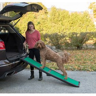 Pet Gear Bi-Fold Pet Ramp with supertraX BLACK/GREEN PG9166GRSX