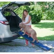 Pet Gear Full Length Bi-Fold Pet Ramp Black / Blue TL9166BB