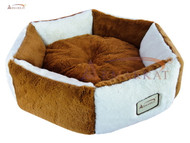Armarkat Cator Dog Bed Brown & Ivory C02NZS/MB