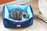 Armarkat Cat or Dog Bed Laurel Navy Blue & Sky Blue C09HSL/TL