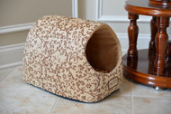 Armarkat Cat or Dog Bed Laurel Beige with Flower pattern & Beige C11HYH/MH