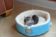 Armarkat Cat or Dog Bed Laurel Beige Sky Blue & Ivory C12HTL/MB
