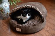Armarkat Cat or Dog Bed Mocha & Leopard C31HKF/BW