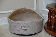 "Armarkat Cat or Dog Bed 17"" Silver & Beige C33HQH/MH-S"