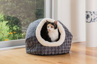 Armarkat Cat or Dog Bed Blue Checkered C44