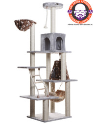 "Armarkat Extra Large >76"" Classic Cat Tree SILVER GRAY A7802"