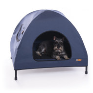 K & H Pet Cot House Indoor & Outdoor Elevated Pet Bed & Shelter Small Navy Blue KH1602
