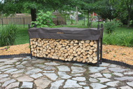 Alexander Manufacturing Company The Woodhaven 8ft Firewood Rack and Standard BROWN Cover 96 WRC