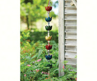 Ancient Graffiti Lily Multicolor Rain Chain ANCIENTRCLILMIR
