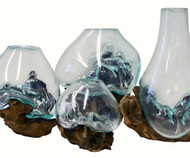 Cohasset Gifts 2016 6 Piece Molten Glass Assortment CH2016SMGA