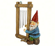 Design Toscano  Ringing His Chimes Gnome Statue DTHF5152401