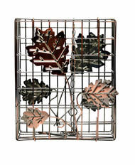 Heath Copper Decorative Leaf Large Suet and Seed Cake Cage Bird Feeder HEATH2307
