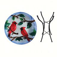 Songbird Essential Perching Cardinals Birdbath w/Stand SE5039