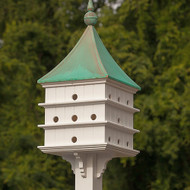 Fancy Home Products Purple Martin House 24 Room Purple Martin House With Patina Copper Roof PMHSQ24PC