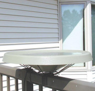 Birds Choice White Heated Deck Mounted Bird Bath Ice Free To -25 Degrees Fahrenheit 125 Watt  BNHDECKWH