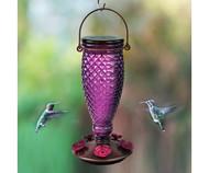Perky Pet Diamond Wine Top-Fill Glass Hummingbird Feeder 9102-2