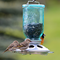 Perky Pet Blue Glass Mason Jar Wild Bird Feeder 784