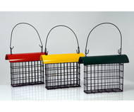 Songbird Essentials Deluxe Suet Cage with Color Metal Roof (must order in 3s)