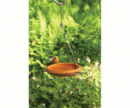 Ancient Graffiti Ceramic Spice Round Hanging Bird Bath 11.5W x 19D x 11.5H in. AG 17027