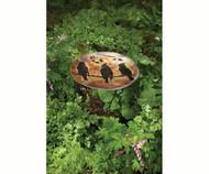 Ancient Graffiti Cedar Waxwing Flamed Bird Bath or Plant Stand AG17040