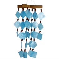 Woodstock Chimes Diamond Capiz Blue Windchime CDCB