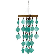 Woodstock Chimes Diamond Capiz Green Windchime CDCG