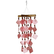 Woodstock Chimes Diamond Capiz Red Windchime CDCR