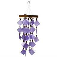 Woodstock Chimes Diamond Capiz Purple Windchime CDCU