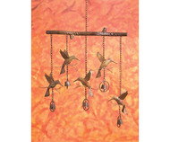Ancient Graffiti Hummingbird Flamed Windchime