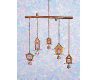 Ancient Graffiti Bamboo Bird House Windchime AG1434