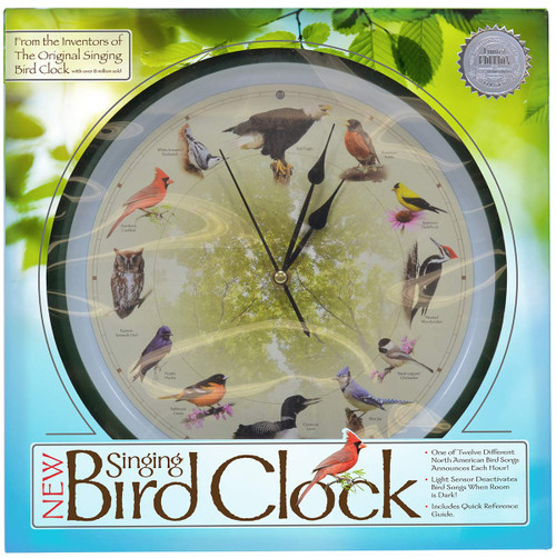 Mark Feldstein 20th Anniversary 13 inch Singing Bird Clock MFBIRD13