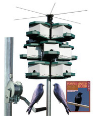 Heritage Farms Quad Purple Martin House and Pole System 3 Quads 12 Rooms HF 7540 Kit