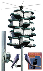 Heritage Farms Quad Purple Martin House and Pole System 4 Quads 12 Rooms HF 7540 Kit