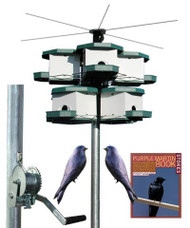 Heritage Farms Quad Purple Martin House and Pole System 2 Quads 8 Rooms HF 7540 Kit