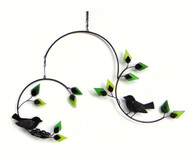 Gift Essentials G461 Forest Birds Metal and Glass Mobile