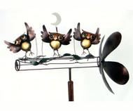 Gift Essentials Dancing Owls Whirligig Spinner GEBLUEG471