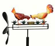 Gift Essentials Pecking Chickens Whirligig GEBLUEG489