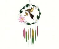 Gift Essentials Garden Angel with Large Flowers Wind Chime GEBLUEG508