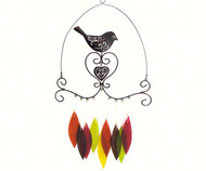 Gift Essentials Bird and Heart Wind Chime GEBLUEG424