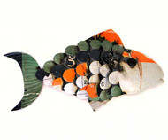 Gift Essentials Recycled Metal Fish Wall Decor GEBLUEA230