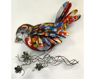 Gift Essentials Recycled Metal Bird Wall Decor GEBLUEA231