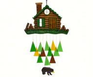 Gift Essentials Log Cabin Wind Chime GEBLUEG530