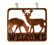 Gift Essentials Doe & Buck Welcome Sign GEBLUEG526