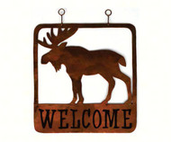 Gift Essentials Square Moose Welcome Sign GEBLUEG525