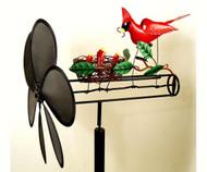 Gift Essentials Cardinal Nest Whirligig GEBLUEG149