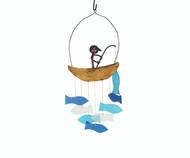 Gift Essentials Fisherman Wind Chime GEBLUEG564