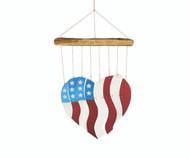 Gift Essentials Americana Heart Driftwood Wind Chime GEBLUEG567