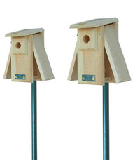 2 Coveside Conservation Premium Two-Sided Observation Bluebird Houses and Pole Kits Coveside Conservation Premium Two-Sided Observation Bluebird House COV-10058